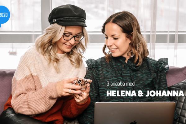 3 snabba med Helena & Johanna Engström